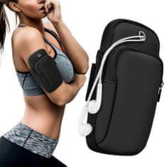 MG Running Armband tekaški etui za telefon, črna