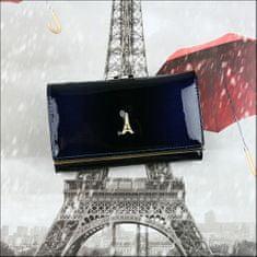 PARIS DESIGN Kožená dámská peněženka Bechette, modrá
