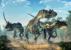 mapcards.net 3D pohľadnica Allosauruses (Natural History)