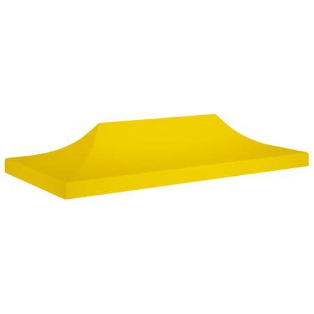 shumee sárga tető partisátorhoz 6 x 3 m 270 g/m²