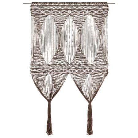 shumee tópszínű makramé pamutfüggöny 140 x 240 cm