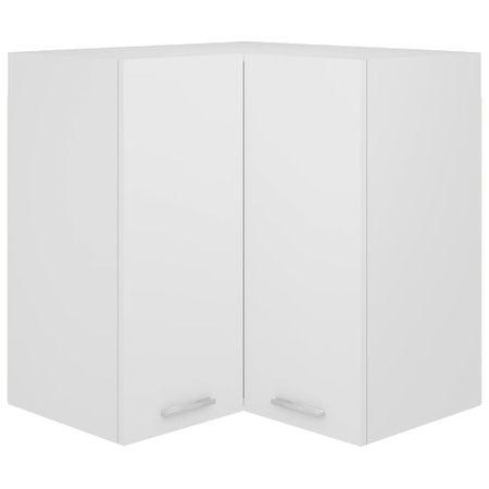 shumee fehér forgácslap függő sarokszekrény 57 x 57 x 60 cm