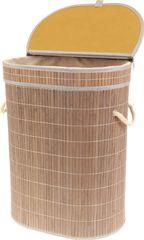 ART Koš prádelní z bambusu, ovál , barva šedobílá, v papírové krabičce KD4426 Art