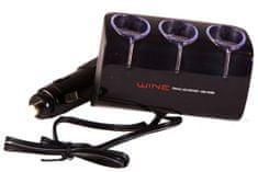 AUTOBAN Roztrojka WINE 12/24V s USB otočná s kabelem