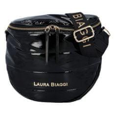 Laura Biaggi Dámská koženková lakovaná kabelka Shiny Laura Biaggi, černá