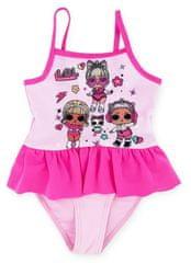 """Eplusm Lány lány fürdőruha """"LOL"""" - világos rózsaszín"""