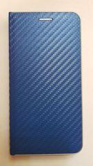 R2Invest Kožené puzdro CARBON pre Samsung Galaxy S10 G973 - modré
