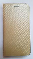 R2Invest Kožené puzdro CARBON pre iPhone XR (6,1) - zlaté