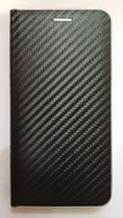 R2Invest Kožené puzdro CARBON pre Samsung Galaxy J4+ J415 - čierne