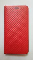 R2Invest Kožené puzdro CARBON pre Huawei Mate 20 Lite - červené
