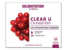 GoldNutrition Clear-U Cranberry 30 kapslí