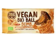 GoldNutrition Vegan Bio Ball Bomb 30 g arašídové máslo