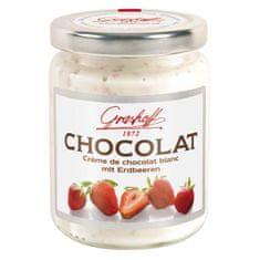 Grashoff  Bílý čokoládový krém s jahodami, sklo, 250g