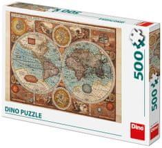 DINO karta svijeta iz l. 1626 slagalica, 500 komada