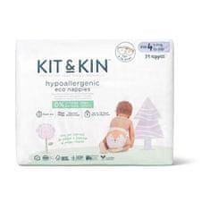 Kit & Kin eko plienky, veľkosť 4 (34 ks), 9-14 kg