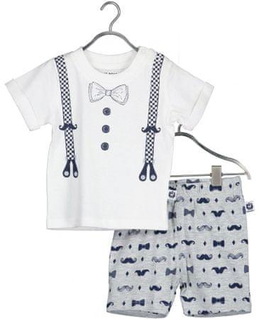 Blue Seven 422130 X komplet za dječake majica i kratke hlače, bijeli, 62