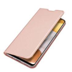 Dux Ducis Skin Pro knížkové kožené pouzdro na Samsung Galaxy A12, růžové