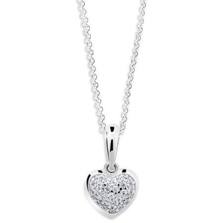 Cutie Jewellery Szív alakú fehér arany medál Z6295-2383-40-10-X-2 fehér arany 585/1000