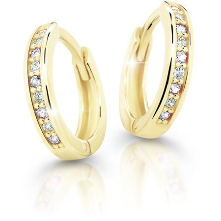 Cutie Jewellery Bájos sárga arany karika fülbevaló C3342-80-X-1 (Szín lila)