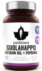 Puhdistamo Betaín HCL (Betaín HCl + Pepsin) 60kapsúl