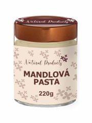 Natural Products Mandlová pasta z loupaných mandlí 220g