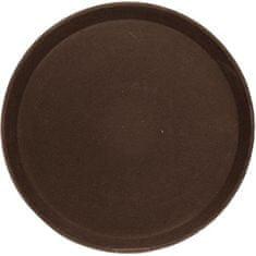 Cambro Tác podnos 35,6 cm, kulatý, hnědý