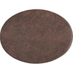ZicZac Prestieranie Troja 45x33 cm, oválne, kávové