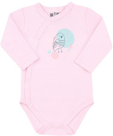 Nini Lány body organikus pamutból ABN-2580, 56, rózsaszín
