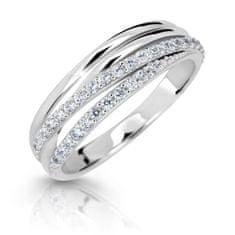 Cutie Jewellery Błyszczący pierścionek z białego złota Z6716-3352-10-X-2 białe złoto 585/1000