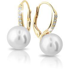 Cutie Jewellery Exkluzivní zlaté náušnice s pravými perlami a zirkony Z6432-3122-50-10-X-1