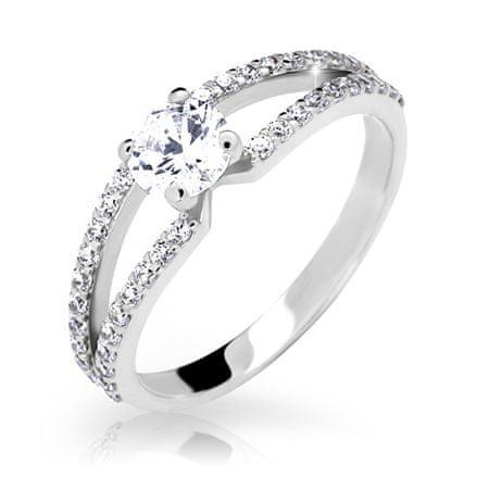 Cutie Jewellery Z6832-2358-10-X-2 gyönyörűen csillogó gyűrű (Kerület 58 mm) fehér arany 585/1000