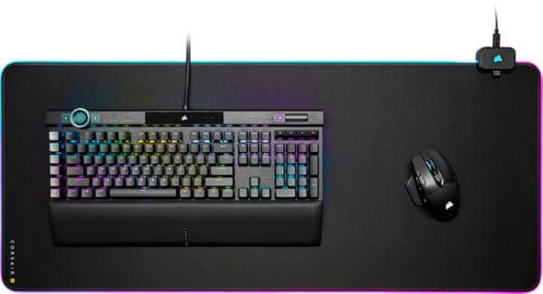 Podkładka pod mysz Corsair MM800 RGB Polaris Cloth Edition (CH-9440021-EU), podkładka, RGB, 15 stref, tkanina, 5mm
