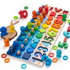 Tark igrača za učenje črk in številk, lesena