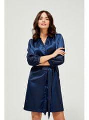 Moodo moodo modré saténové šaty