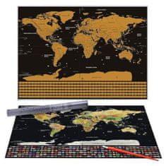 Tark karta svijeta ScratchOff