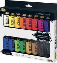"KREUL Sada Akrylová farba ""SOLO GOYA"", 16 farieb, 20 ml v tube"