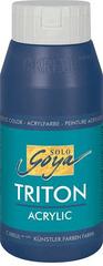 """KREUL Akrylová farba """"TRITON SOLO GOYA"""", tm.modrá, 750 ml"""