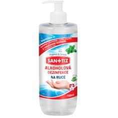 SANITIZ Alkoholová dezinfekce na ruce 750ml - parfém máta / obsahuje Aloe Vera