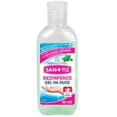 SANITIZ Dezinfekční gel na ruce / dezinfekce 50ml - parfém máta / obsahuje Aloe Vera