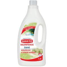 SANITIZ Čistící prostředek na koupelny a vodní kámen / dezinfekce 1.5l - parfém Jungle rain