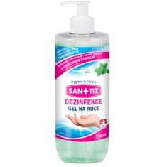 SANITIZ Dezinfekční gel na ruce / dezinfekce 750ml - parfém máta / obsahuje Aloe Vera