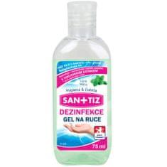 SANITIZ Dezinfekční gel na ruce / dezinfekce 75ml - parfém máta / obsahuje Aloe Vera