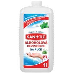 SANITIZ Alkoholová dezinfekce na ruce 1l - parfém máta / obsahuje Aloe Vera