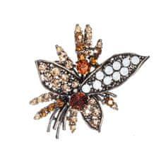 DARKA Brož Kytice s krystaly BRBI0017 Bižuterie