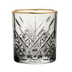 Pasabahce Timeless čaše za viski sa zlatnim rubom, 350 ml, 4 kom