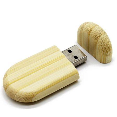 CTRL+C Owalny drewniany pendrive BAMBUS, 8 GB, USB 2.0