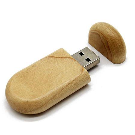 CTRL+C Owalny drewniany pendrive KLON, 64 GB, USB 2.0