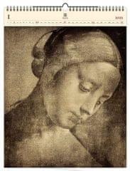 Kalendář 2021 dřevěný: Da Vinci, 450x590
