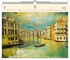 Kalendář 2021 dřevěný: Venezia IV., 485x410