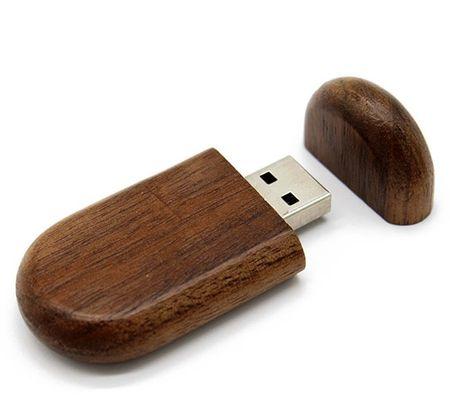 CTRL+C Owalny drewniany pendrive ORZECH, 8 GB, USB 2.0
